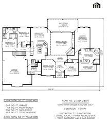One Story Luxury Home Floor Plans by Cool One Storey House Plans With Basement Images Home Design
