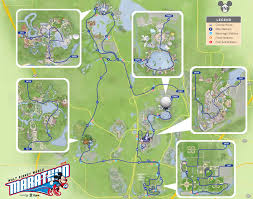 Boston Marathon Route Map by 2014 Walt Disney World Marathon Weekend Course Maps Doombuggy Runner