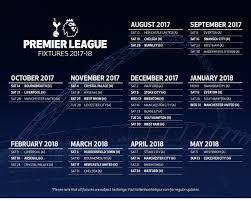 Jadwal Liga Inggris Jadwal Dan Hasil Tottenham Hotspur Di Liga Inggris Musim 2017 2018