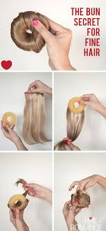 hairstyles with a hair donut how to make the perfect hair donut for fine hair or short hair