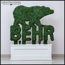 3 h x 6in w custom logo or letter boxwood topiary shape outdoor