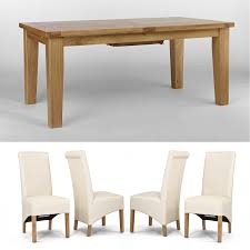 vancouver oak petite 1400 1800mm ext dining table u0026 6 chairs