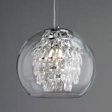 glass globe and crystal pendant light crystal pendant lighting