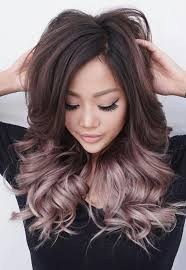 rose gold balayage ombre on brunette hair hair hair oh