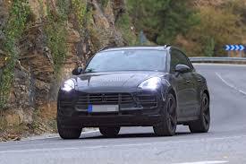 Porsche Macan Blue - spyshots 2019 porsche macan prototype poses for the camera