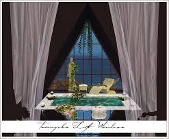 triangular loft windows ceiling frames new meshes sims 4 designs