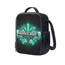 diamond minecraft diamond minecraft creeper 28 kids insulated lunch bag u2013 creativedzign
