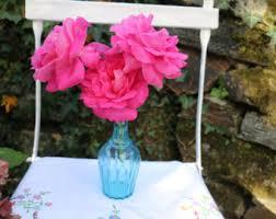 Vase French Blue Flower Vase Etsy