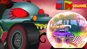 monster truck cartoon videos haunted house monster truck ep 66 monster truck race videos for