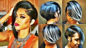 short mid hair pushed behind ears latest 30 showiest bob haircuts for black women youtube