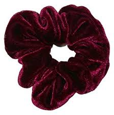 hair scrunchie smoothies velvet scrunchie burgundy 00687 velvet