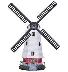solar power lighthouse rotating led garden light house decoration