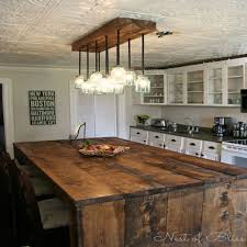 Kitchen Island Lighting Rustic - walnut wood harvest gold shaker door diy rustic kitchen island