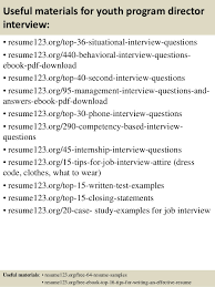 Examples Of A Resume For A Teenager Top 8 Youth Program Director Resume Samples