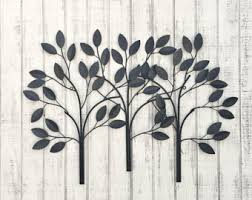 Metal Tree Wall Decor Metal Wall Decor Etsy
