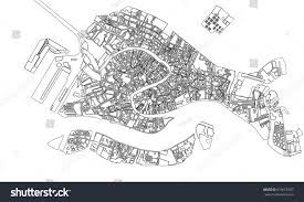 Map Venice Italy by Vector Map City Venice Italy Stock Vector 619618787 Shutterstock