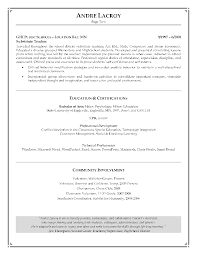 Resume Exmples Resume Cover Letter Examples Teachers