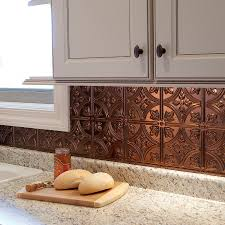 tin tiles for backsplash in kitchen shop fasade 18 5 in x 24 5 in oil rubbed bronze thermoplastic