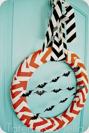 halloween chevron wreath tutorial tatertots and jello