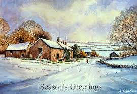 early morning snow cards painting by andrew read
