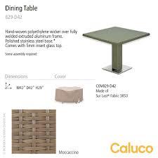 Patio Furniture Dimensions 10 Tierra Square Pedestal Dining Table Caluco Patio Furniture