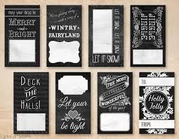 printable pdf gift tags chalkboard holiday winter