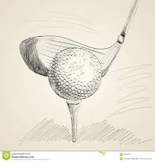 golf ball stock vector image of isolated game sketch 40623357