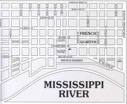 Bourbon Street New Orleans Map by Map Jpg