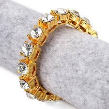 aliexpress buy nyuk gold rings bling gem aliexpress buy nyuk 8mm bangle men s one row cz rhinestone