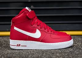 Nike Air Force One Comfort Keep Fresh With The Nike Air Force 1 High Red Perforated Leather