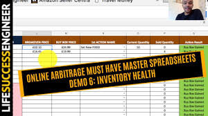 online arbitrage must have master spreadsheets demo 6 inventory