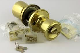 class solid brass bed and bath locking door knob set ghi ga300093