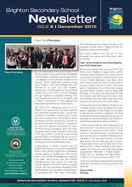 brighton secondary newsletter december 2015 by brighton