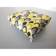 modern dollhouse furniture m112 pods ottoman in yellow gray