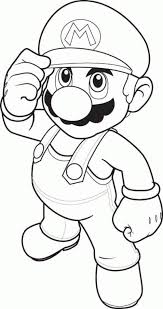 mario character coloring pages coloring