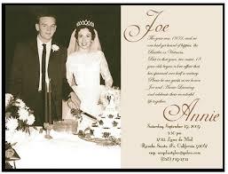 vow renewal wording golden wedding anniversary invitation golden wedding anniversary