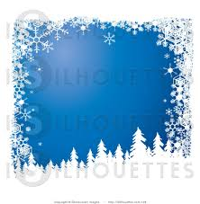 silhouette clipart of snow flocked christmas tree silhouettes over