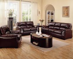 Pictures Of Living Rooms With Leather Furniture Genuine Brown Leather Sofa Living Room Design Ideas With