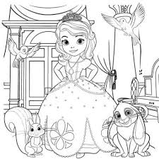 sofia coloring free printable babies disney