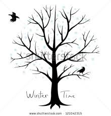 winter tree crows stock vector 121042315