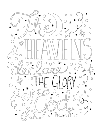 the heavens declare the glory of god colouring pages pinterest