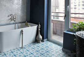 Blue And White Bathroom by Blue And White Bathroom Floor Tiles Wood Floors