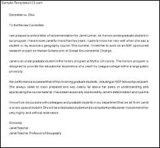sample letters of recommendation for graduate grad