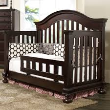 Sleigh Bed Cribs Creations Summer S Evening Convertible Crib In Espresso