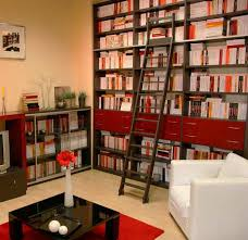 Sliding Bookshelf Ladder 25 Modern Home Library Designs With Ladders And Stairs