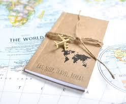 Travelers notebook travel gift writing journal travel map