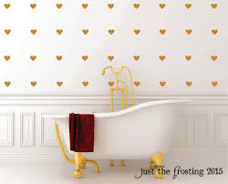 gold heart wall decals set gold decals heart decals zoom