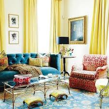 Teal And Yellow Curtains Teal Blue Curtains Contemporary Dining Room Jonathan Adler