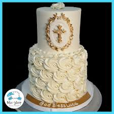 christening cakes white and gold rosette christening cake nj blue sheep bake shop