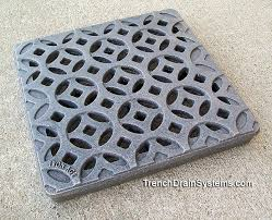 decorative 24 x 24 cast iron grate drainagekits